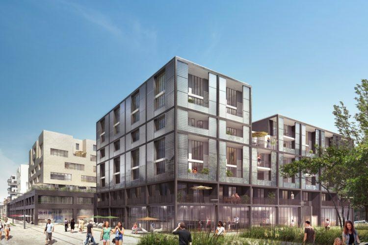 Image 3d nouveaux bâtiments de pantin